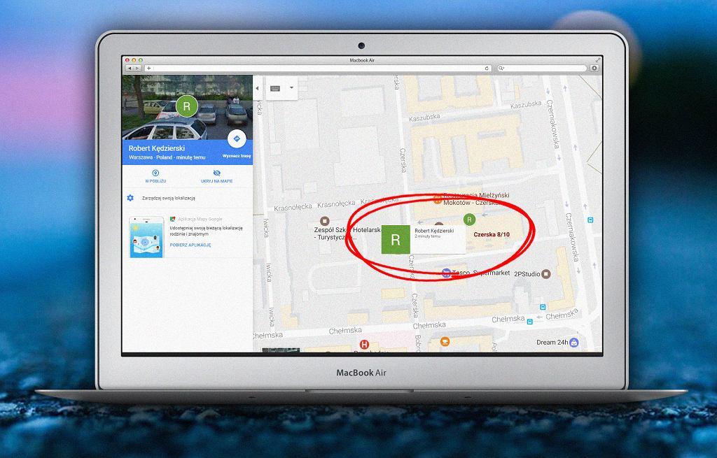 Google Maps umożliwia udostępnianie pozycji