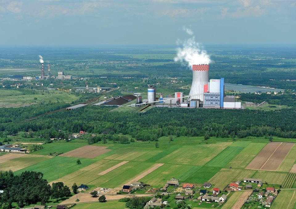 Wizualizacja elektrowni Ostrołęka C.