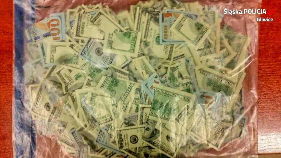 Zdjęcie numer 2 w galerii - 80-latka zgłosiła kradzież 40 tys. dolarów. Zostały pocięte na 1045 kawałków