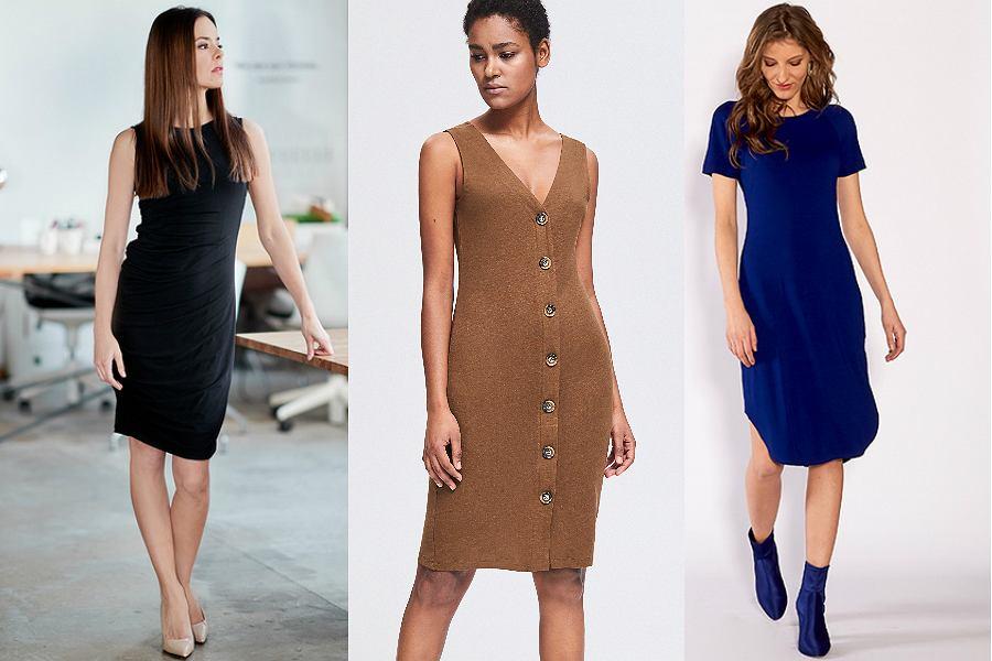 sukienki basic z krótkim rękawem