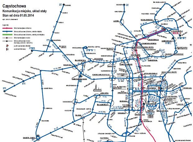 Czestochowa Pora Na Nowe Mapy Komunikacji Miejskiej