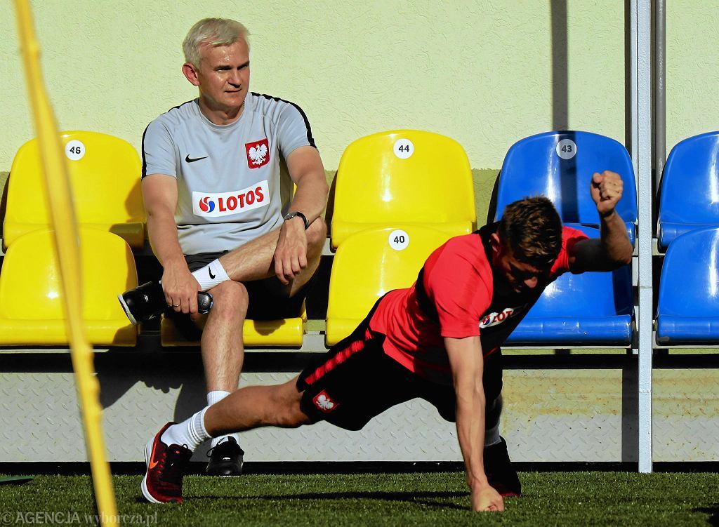 Trener reprezentacji Polski U20 Jacek Magiera