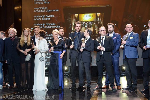 02.03.2014 Warszawa , Teatr Polski . Nagrody filmowe Orly 2015 .  Fot. Franciszek Mazur / Agencja Gazeta