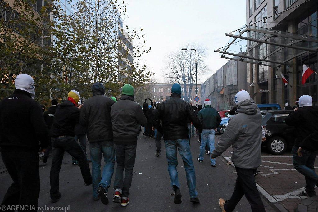 Zamieszki przy ul. Skorupki podczas Marszu Niepodległości 11 listopada 2013 r.