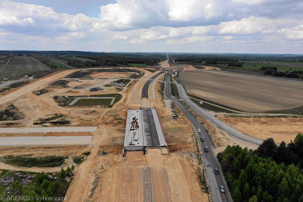 Budowa odcinka autostrady A1 w okolicach Częstochowy