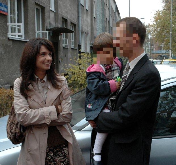 Marta Kaczyńska z byłym mężem i córką