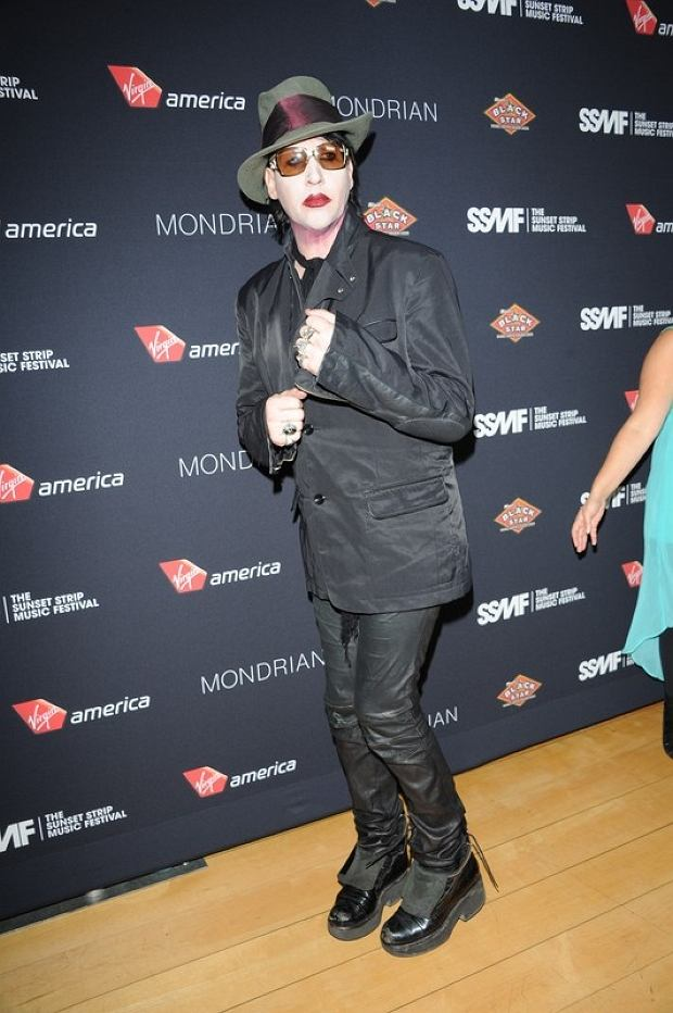 Marylin Manson. 17 August 2012, West Hollywood, California. The 5th Annual Sunset Strip Music Festival Official VIP's Party held at The SkyBar at Mondrian Los Angeles. Photo Credit: Giulio Marcocchi/Sipa USA.