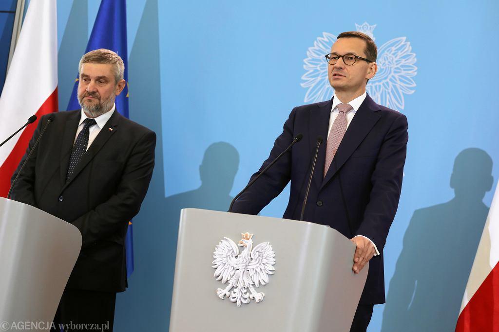 Jan Krzysztof Ardanowski i Mateusz Morawiecki