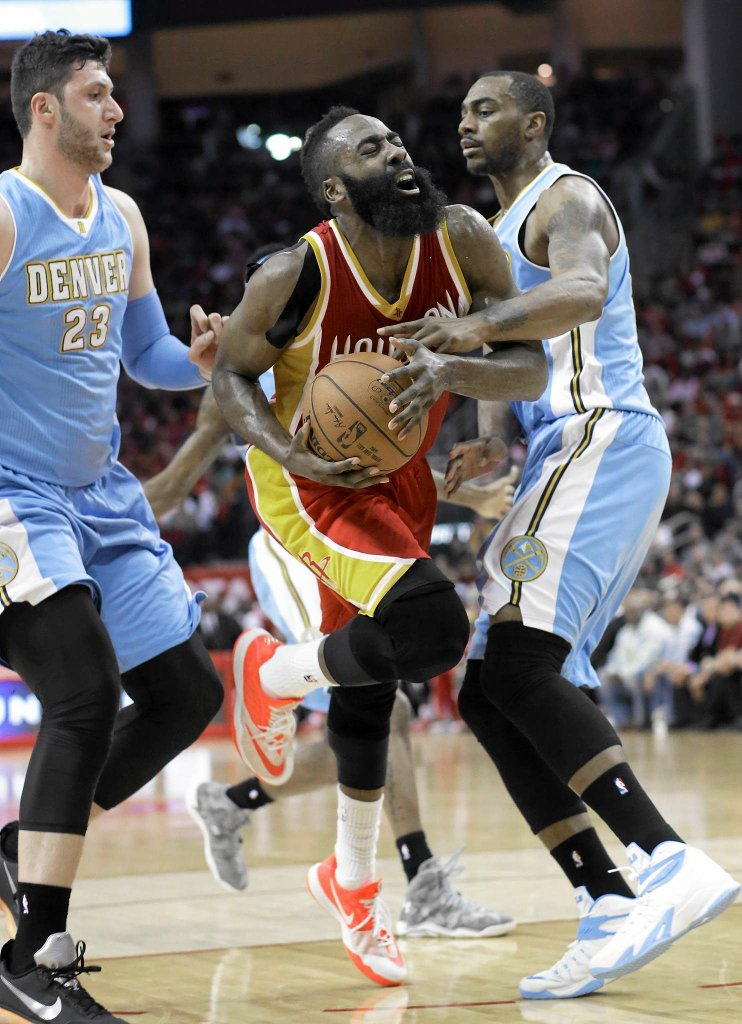 James Harden w meczu z Denver Nuggets