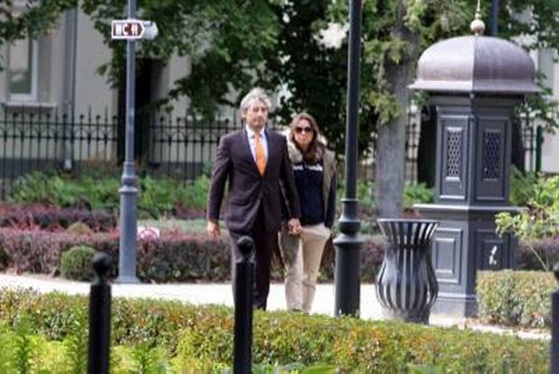 Kinga Rusin i Marek Kujawa odpoczywaja razem w Sopocie 28-09-2012 Sopot
