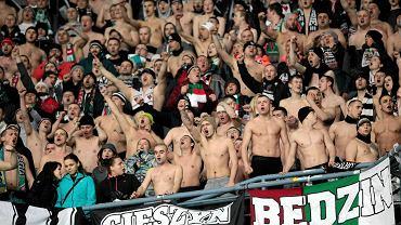 Lech Poznań - Zagłębie Sosnowiec 1:0 w półfinale Pucharu Polski. Kibice Zagłębia Sosnowiec