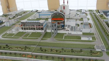 Model Bałtyckiej Elektrowni Atomowej, która ma powstać w regionie Kaliningradu. Na razie prace wstrzymano.
