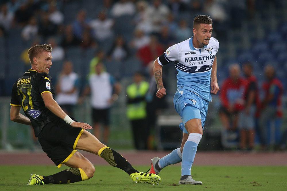 Bartosz Salamon podczas meczu na stadionie Olimpico w Rzymie w 2018 roku (fot. Shutterstock)