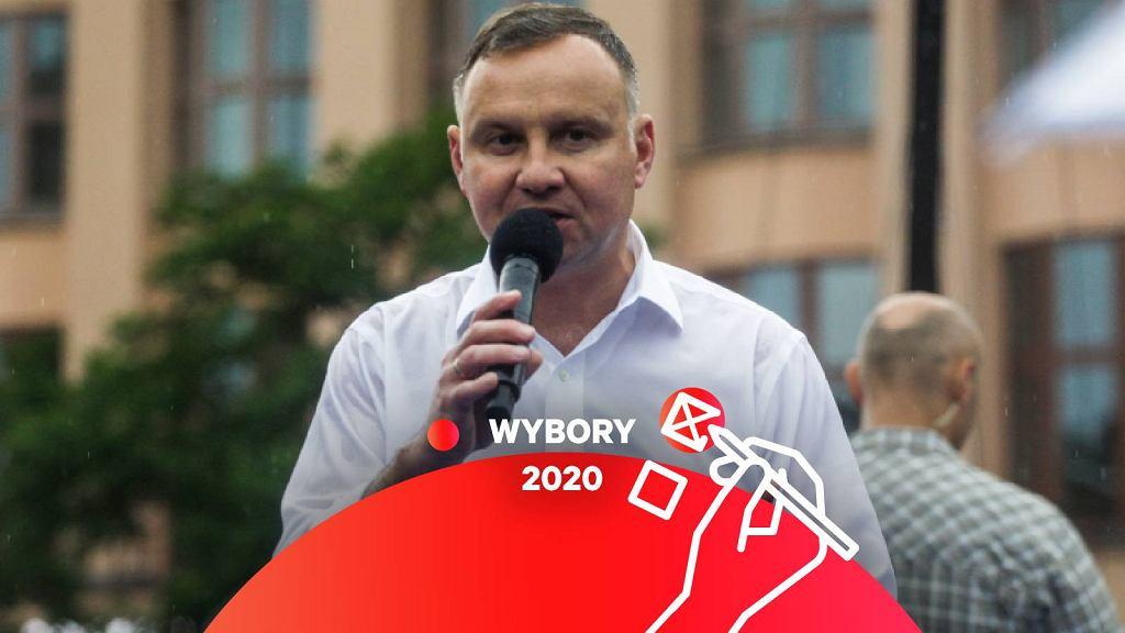 Ubiegający się o reelekcję Andrzej Duda