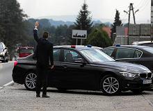 Kolizja samochodu SOP z kolumny prezydenckiej Andrzeja Dudy