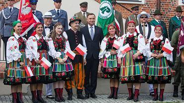 Andrzej Duda podczas wizyty w Szczecinku