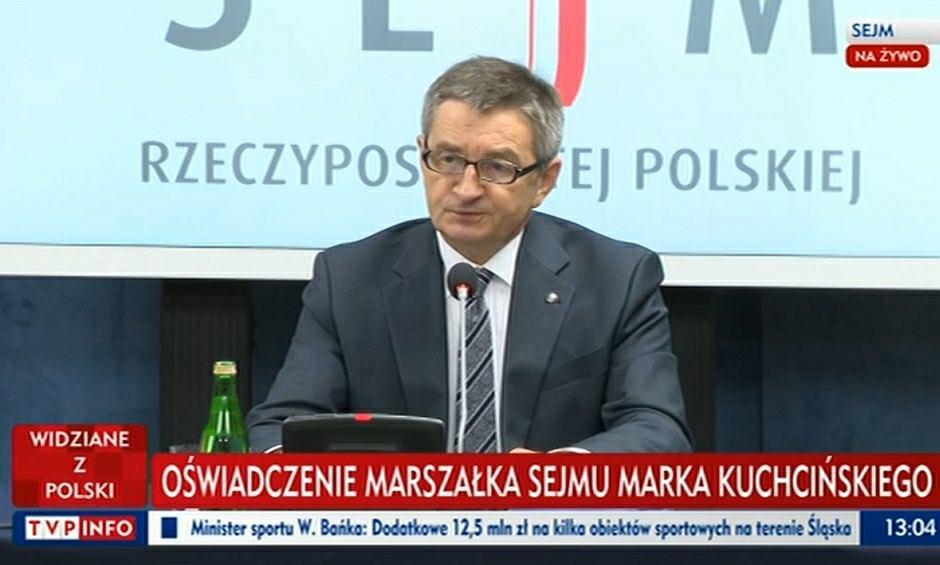 Oświadczenie Marka Kuchcińskiego ws. lotów