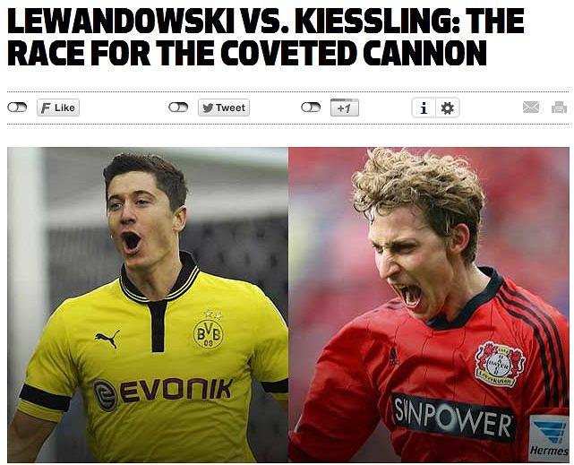 Robert Lewandowski kontra Stefan Kiessling na oficjalnej stronie Bundesligi.