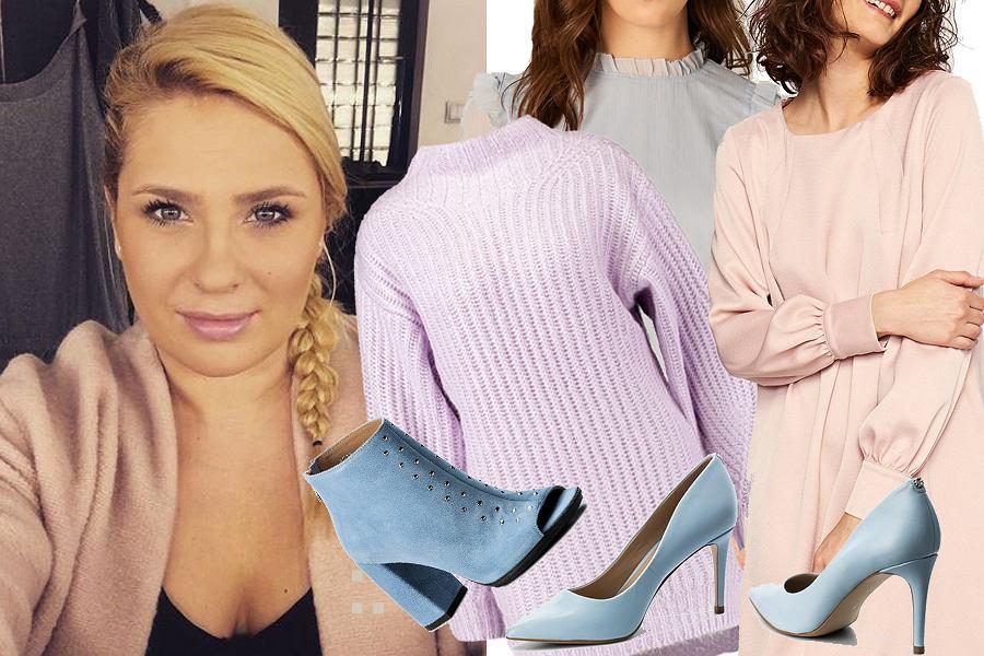 Kolaż, pastelowe ubrania