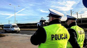 Pomiar prędkości prowadzony przez policję
