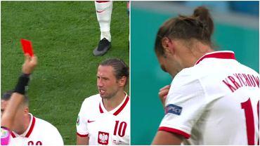 Grzegorz Krychowiak dostał czerwoną kartkę w meczu Polska - Słowacja