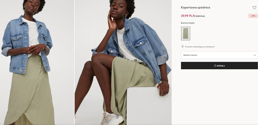 kopertowa spódnica H&M