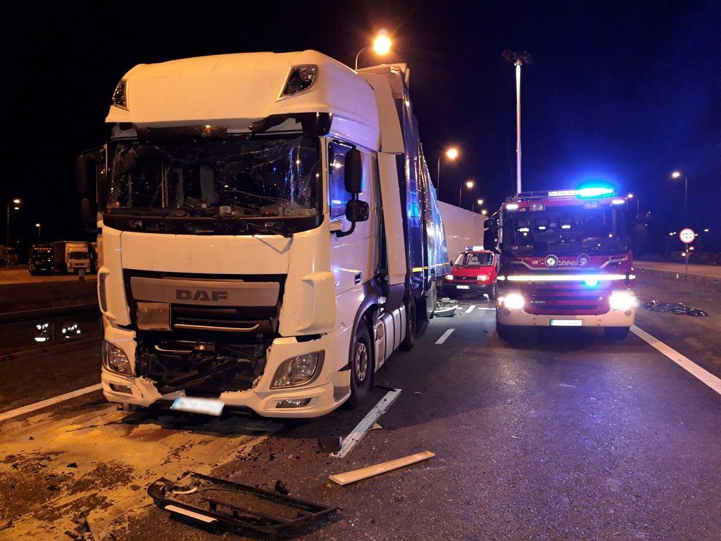 Wypadek w Nowej Wsi przy wjeździe na A1