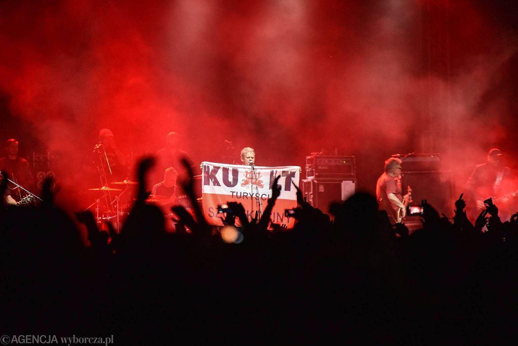 Częstochowa, park Lisiniec, 26 czerwca 2017 r. Występ zespołu Kult w ramach Częstochowskiego Festiwalu 'Frytka OFF-jazd'