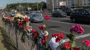Mińsk, Metro Pusznikskaja, miejsce śmierci Aleksandra Tarajkowskiego.