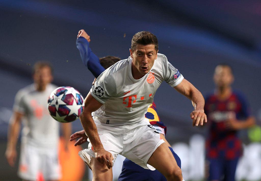 Liga Mistrzów. Robert Lewandowski w meczu Bayern - Barcelona (8:2)