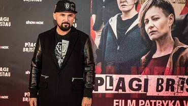 Patryk Vega w trakcie przedpremierowego pokazu filmu 'Plagi Breslau', 2018