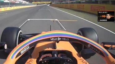 Rozśpiewany Lando Norris podczas treningu F1 przed GP Toskanii