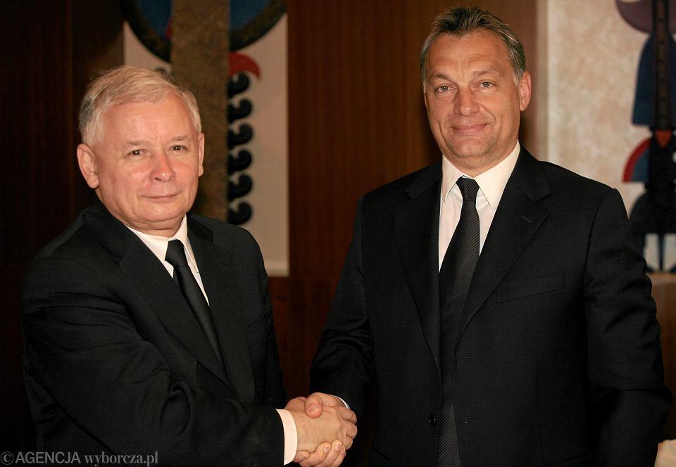 02.06.2010 Warszawa . Spotkanie Jarosława Kaczyńskiego z Viktorem Orbanem.