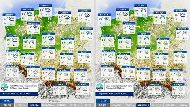 Pogoda na najbliższy w weekend.