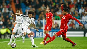 Real Madryt - Liverpool 1:0. Marcelo (Real) i Emre Can (Liverpool)