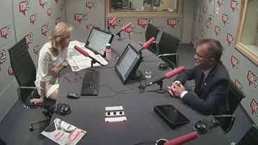 Dominika Wielowieyska i Jarosław Sellin w studiu radia TOK FM