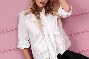 Białą bluzka