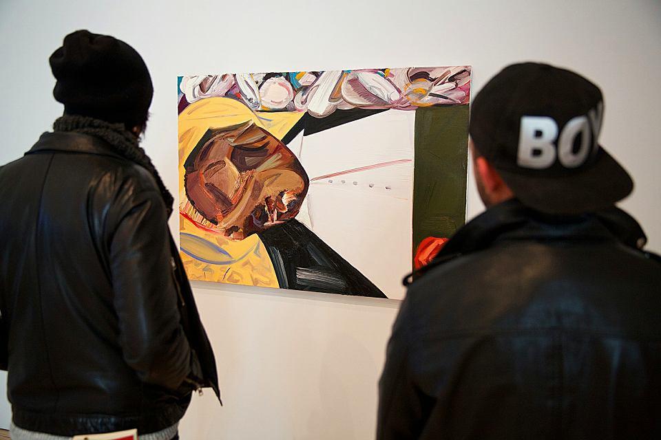Wywołujący kontrowersje obraz Dany Schutz 'Otwarta trumna'