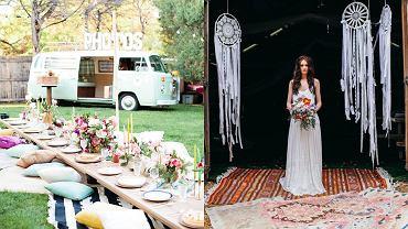 Ogród w stylu boho / wesele w stylu boho