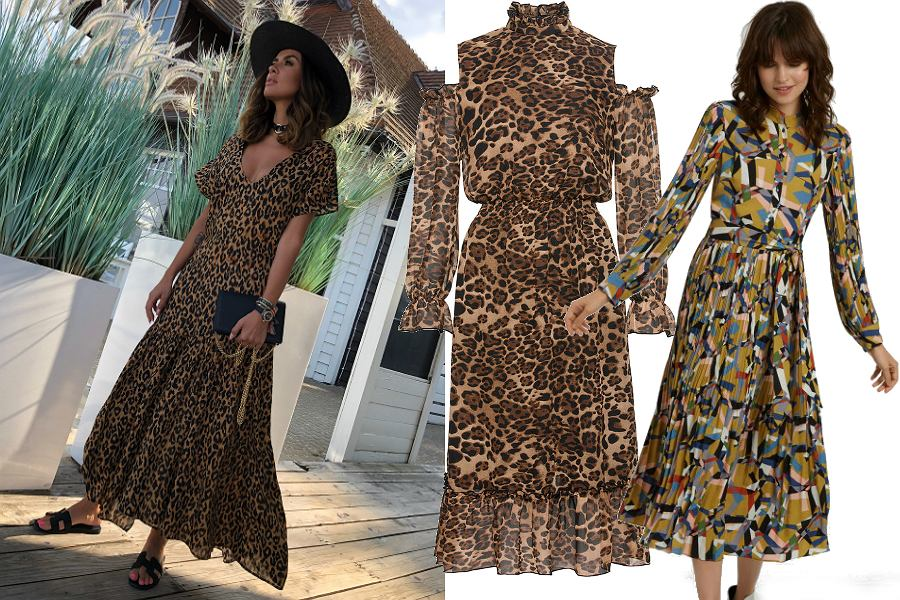 Sukienki boho różne wzory