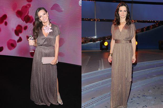 Kinga Rusin na Różach Gali w 2019 roku i w czasie finału 'You Can Dance' w 2011 roku