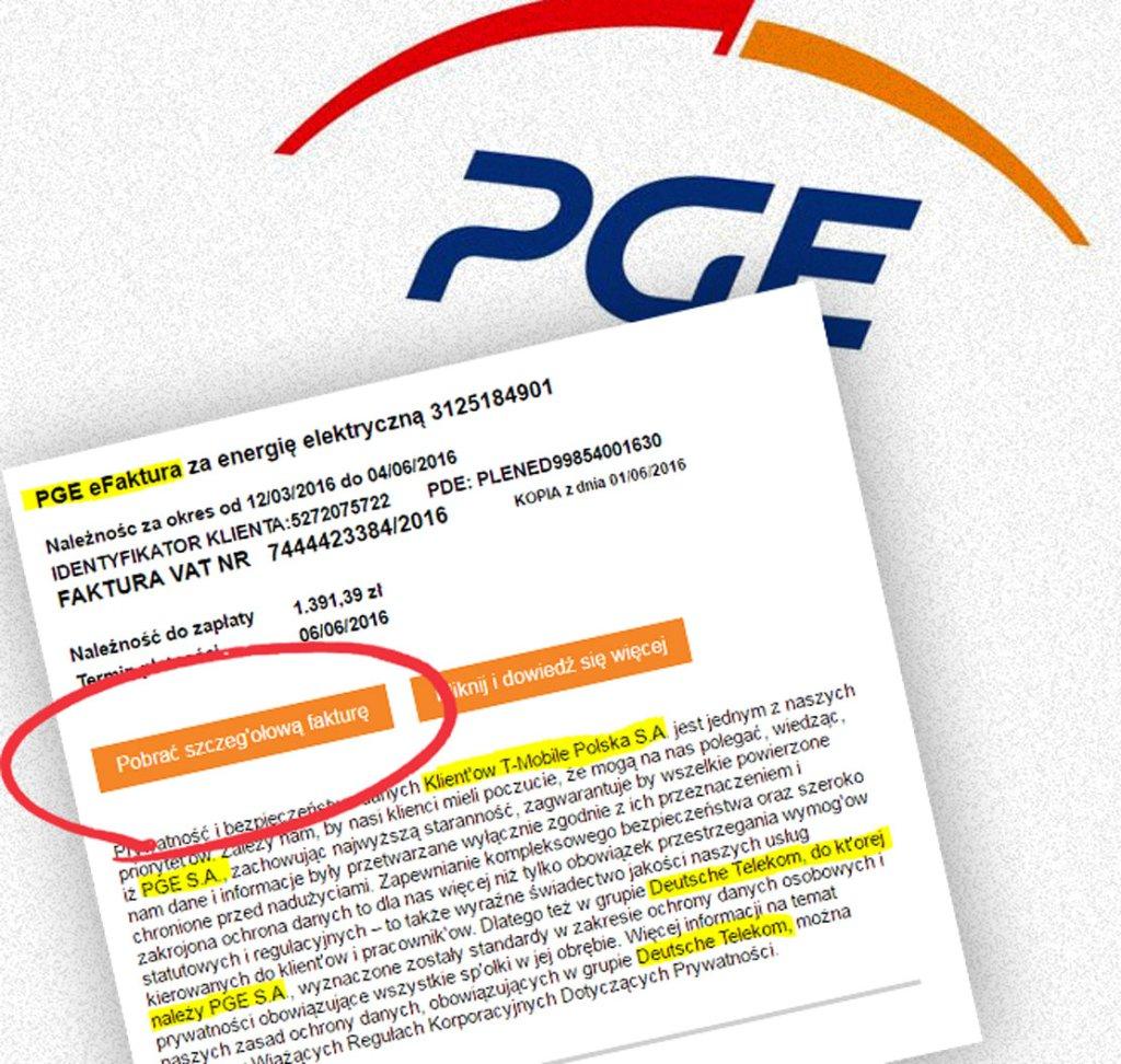 Fałszywe faktury PGE