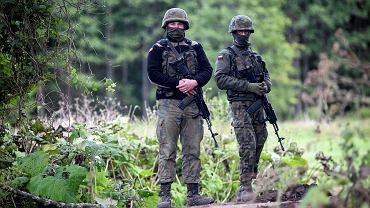 Usnarz Górny, przy granicy z Białorusią