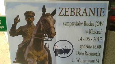 Plakat informujący o spotkaniu sympatyków Ruchu JOW