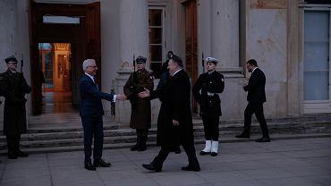 Szef polskiej dyplomacji Jacek Czaputowicz podjął we wtorek sekretarza stanu USA Mike'a Pompeo w Łazienkach Królewskich