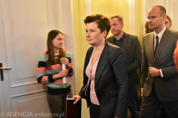 Konferencja prasowa na temat projektu poszerzenia granic Warszawy