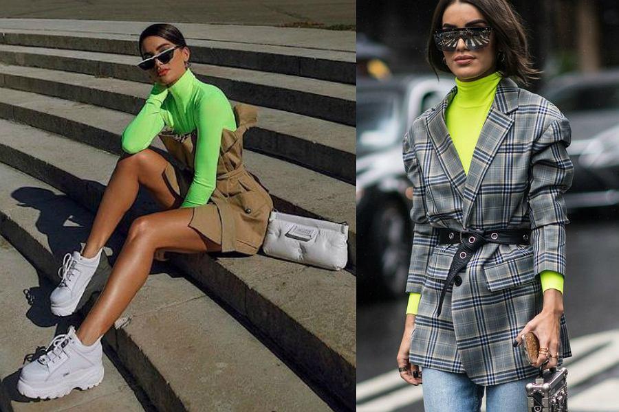 neonowe ubrania stylizacje