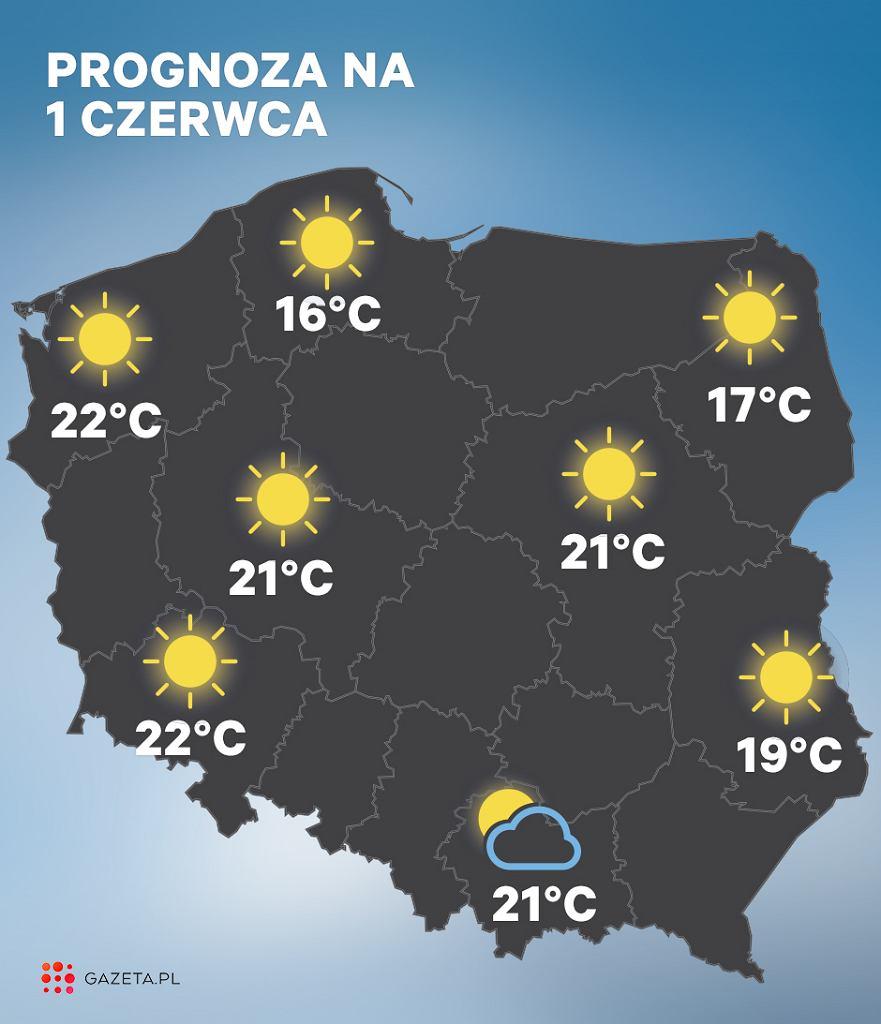 Prognoza pogody na 1 czerwca (Dzień Dziecka)