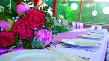 Wystrój sali weselnej