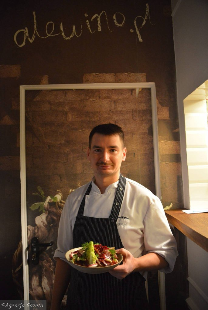 Restauracja Ale Wino! Szef kuchni Sebastian Welpa . / Restauracja Ale Wino! Szef kuchni Sebastian Welpa Fot. FRANCISZEK MAZUR